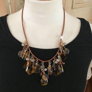 Loft animal print necklace
